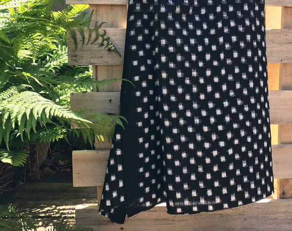 Spot Mono Ikat Indian Handloom Cotton