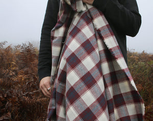 Mammoth Plaid Flannel Burgundy