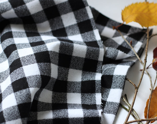 Mammoth Plaid Flannel White