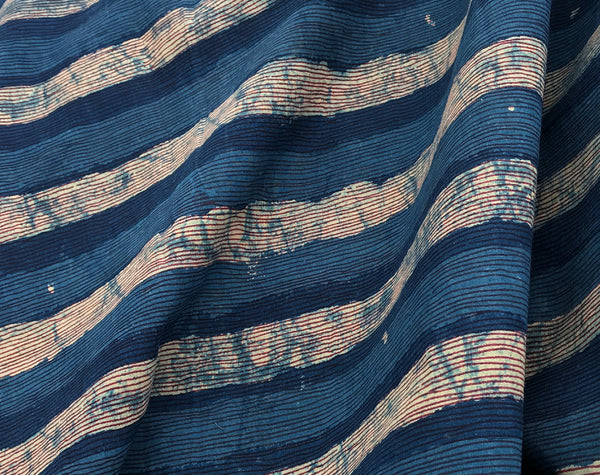 Longline Indigo Block Print Indian Cotton