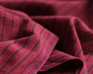 Maroon Stripe Kotpad Handwoven Indian Cotton