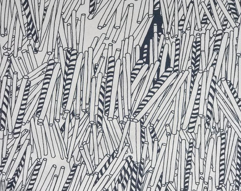Straws Monochrome Organic Jersey by Papu Stories