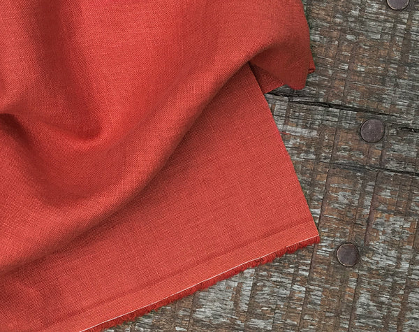 Softened Linen in Rust