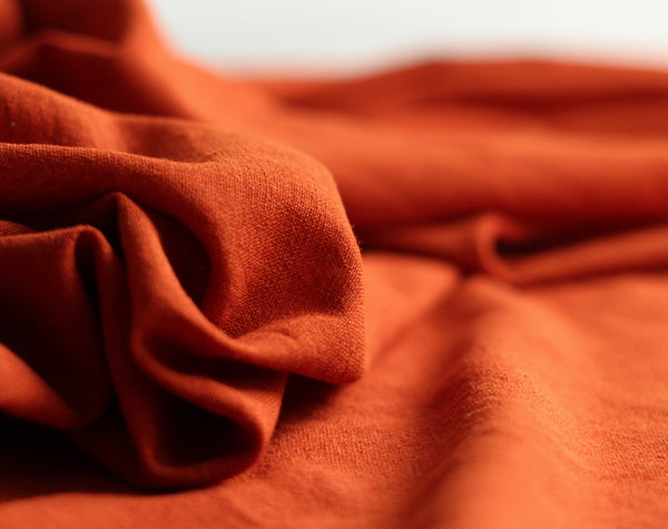 Rust Orange Kotpad Handwoven Indian Cotton