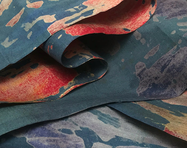 African Hand Dyed Batik Ocean by Grace Adover