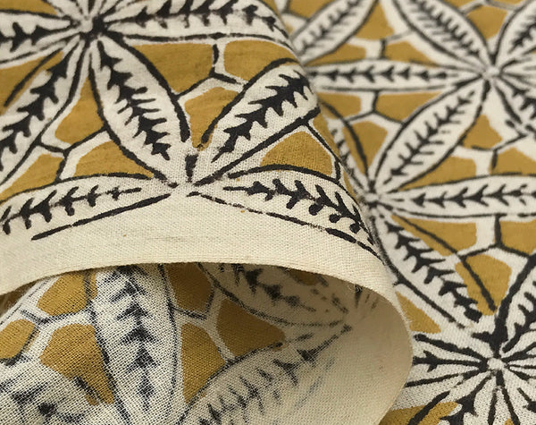 Star Anise Indian Block Print Cotton