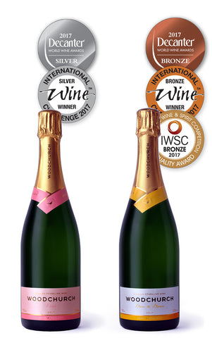 Woodchurch Rose and Blanc de blancs and international medals