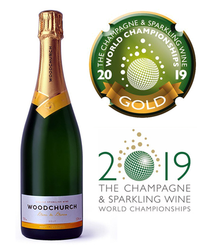 Woodchurch Blanc de blancs 2014 - CSWWC GOLD medal