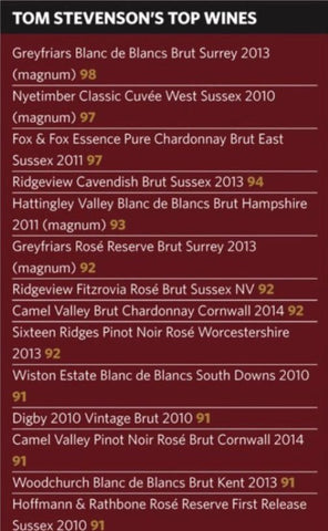 Tom Stevenson's top wines