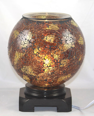 Crackled Globe Style Aroma Light Corded