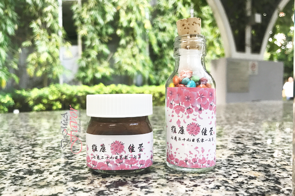 Cherry Blossoms Wedding Bottles