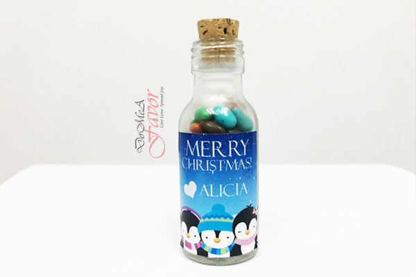 Christmas Penguin Potion Bottles