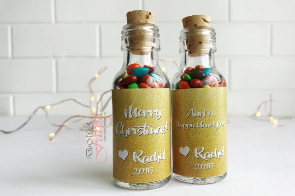 Glittery Love Xmas Potion Bottles