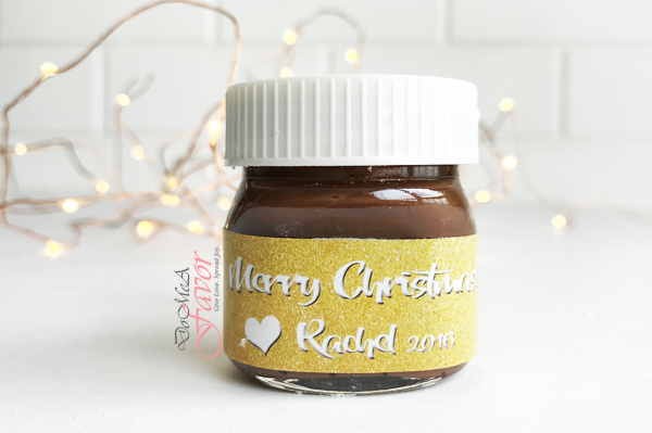 Glittery Love Mini Nutella Bottles