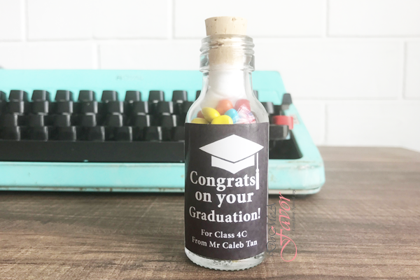 Graduation Hat Potion Bottles