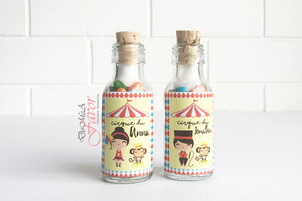 Happy Circus Potion Bottles