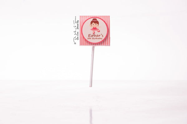 Adorable Ballerina Organic Lollipops