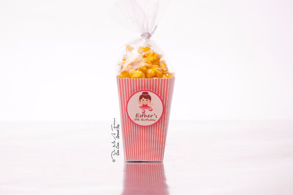 Adorable Ballerina Popcorn Box