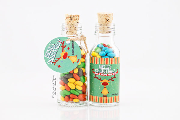 Retro Xmas Potion Bottles