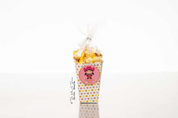 Adventurous Cowgirl Popcorn Box