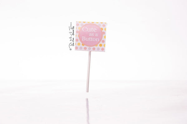 Cute As A Button Organic Lollipops
