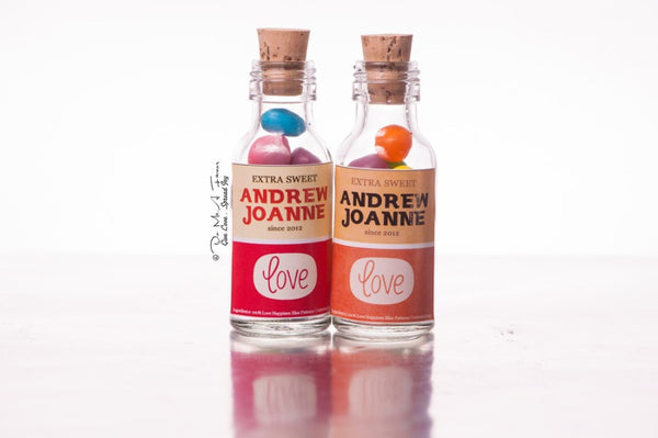 Retro Love Potion Bottles