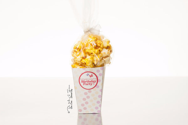 Fairy Princess Popcorn Box (Polka Dots)