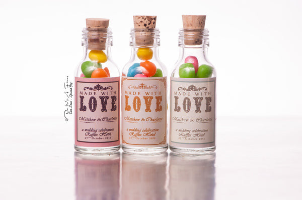 Made With Love Potion Bottles