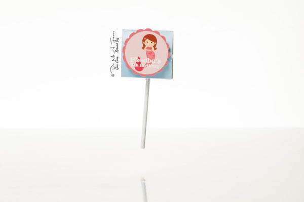 Little Mermaid Organic Lollipops