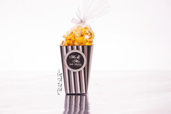 Mr & Mrs Popcorn Box