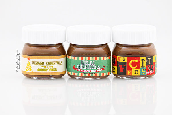 Have yourself a nutty little christmas Mini Nutella Bottles