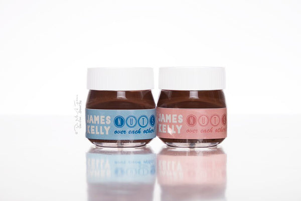 Nuts About Each Other Mini Nutella Bottles