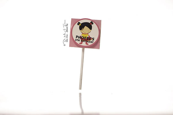 Little SuperGal Organic Lollipops