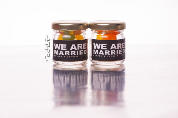 We Are Married Classic Jam Bottles