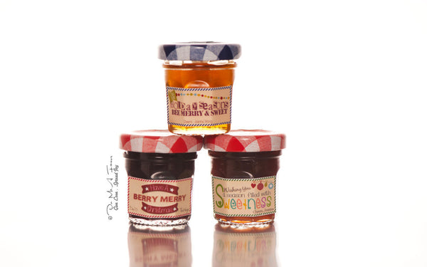 Christmas Greetings Labels Bonne Maman Jam/Honey
