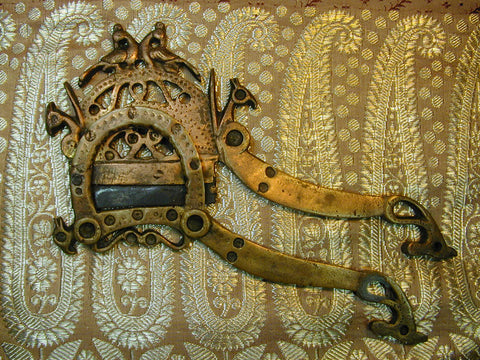 Fine North Indian Betal Nut Cutter with Peacock Heads 19th Century