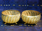 Two silver Buhj style Bowls