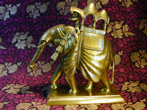 Brass Jaipuri Elephant with Howdah C1920