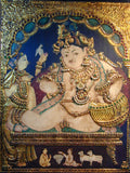 Tanjore Painting of Krishna the Butter Thief