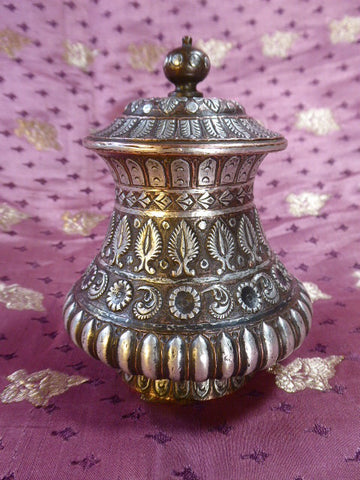 19thc Tanjore covered pot.