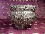 Kashmiri Silver pot pourri Bowl