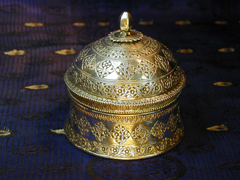 Chased Kashmiri Silver Domed Pandan