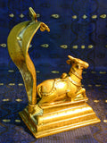 Nandi The Divine Bull with Sheeshnaag The Serpent