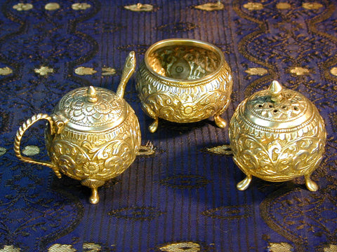 Bhuj Style Silver Condiment Set