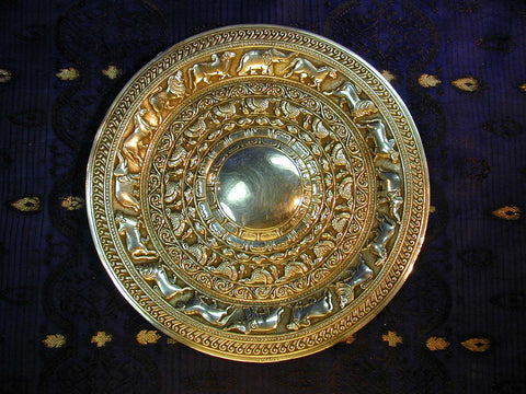 Repoussed Silver 'Moonstone' Silver Dish