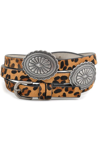 Genuine calf hair belt