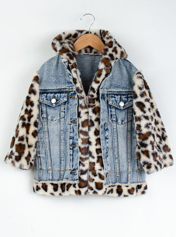 KIDS LEOPARD PRINT JACKET