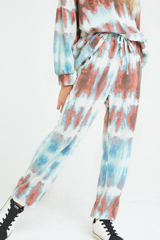 TWEEN SIZE TIE DYE FRENCH TERRY JOGGER PANTS