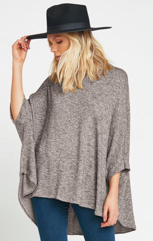 Yuri Poncho - Mountaintop Sweater Knit - Annie James Boutique