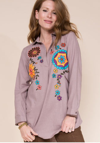 PULLOVER TUNIC WITH POCKETS - Annie James Boutique